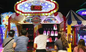 The Great American Arcade: $25 for One $50 Arcade Play Card at The Great American Arcade ($50 Value)