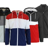 Groupon.com deals on Spire By Galaxy Mens Slim-Fit Lightweight Jackets