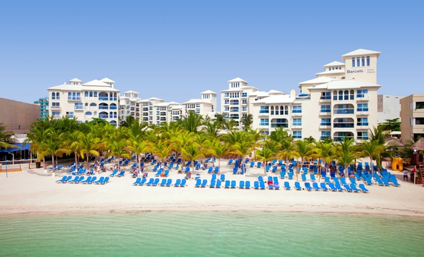 TripAlertz wants you to check out ✈ 3-Night All-Inclusive Occidental Costa Cancún Stay w/ Air from Travel by Jen. Price/Person Based on Double Occupancy. ✈ 3-Night Occidental Costa Cancún w/ Air from Travel by Jen  - All-Inclusive Cancún Vacation
