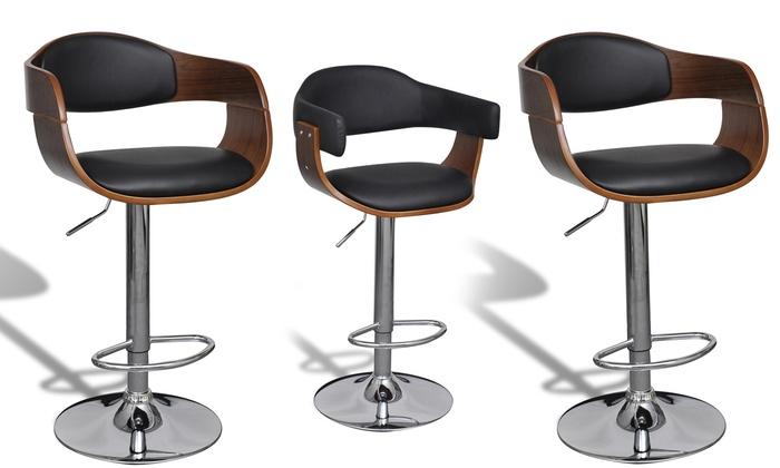 jusqu 39 51 tabouret de bar en bois groupon. Black Bedroom Furniture Sets. Home Design Ideas