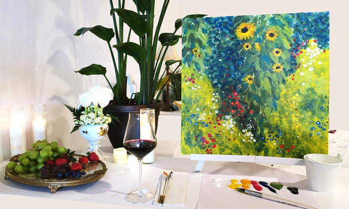 Byob Paint Wine Class Aartwerk Studio Groupon