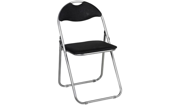 Sedie Pieghevoli Imbottite : Fino a su set di sedie pieghevoli groupon