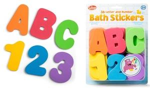 Stickers de bain éducatifs