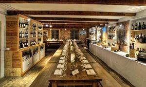 Weinland Waterfront: Verkostungvon 8 chilenischen Weinenfür Zwei oder Vier inkl. Käse-Schinken-Platte und Wasser im Weinland (53% sparen*)
