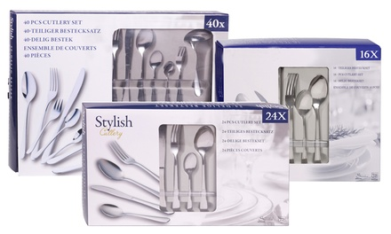 16, 24 or 40Piece Cutlery Set from £6.98