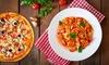 Pizza oder Pasta & Dessert