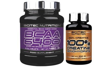 1 o 2 confezioni di aminoacidi ramificadi e creatina 100 g Scitec Nutrition