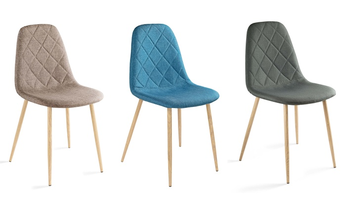 Jusqu A 61 Lot Chaises Scandinaves Matelassees Groupon