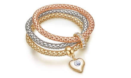 1 o 2 set di 3 bracciali con cristalli Swarovski® OMG Jewel
