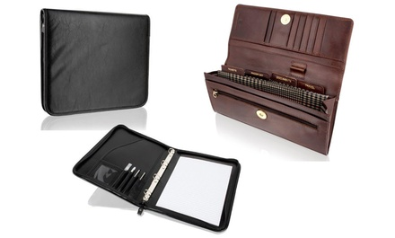 Selection of Woodland Leather Travel Document Holders in Leather