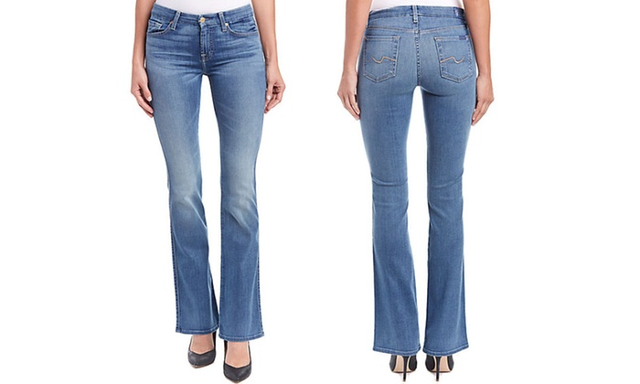 7 For All Mankind Women's Karah Bootcut Jeans | Groupon