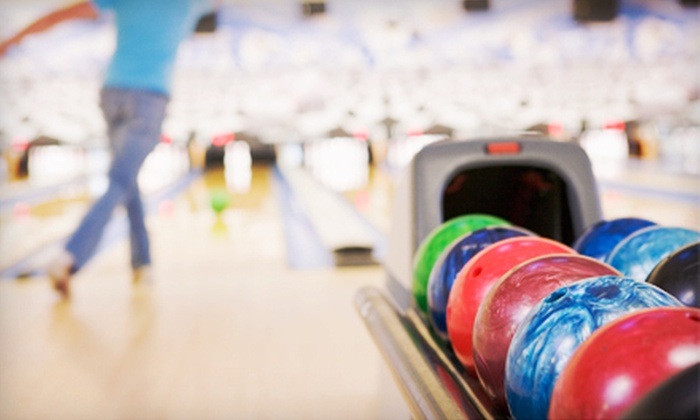 Centennial Lanes - Tinley Park: Bowling for Six with Shoe Rentals, Large Pizza, and Soda at Centennial Lanes (Up to 57% Off). Two Options Available.