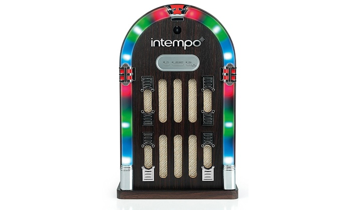 Intempo EE1269BRN Mini Jukebox with Bluetooth and LED Lights