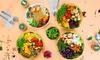 Bowl, Wrap oder Salat mit Getränk to Go