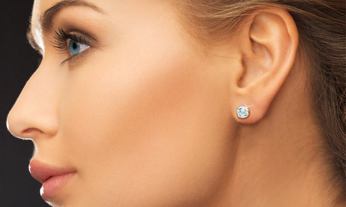 1 Carat Round Cut Diamond Stud Earrings