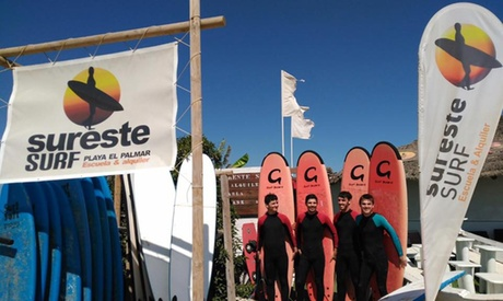 Curso de surf de 1, 3 o 5 días con 2 horas diarias desde 14,95 € en Surestesurf