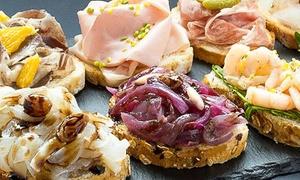 Vino & Cicchetti Squero: Apericena gourmet di mare o terra con selezione di cicchetti veneziani per 2 o 4 persone, Dolo centro (sconto fino 55%)