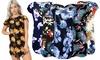 Robe chemise à manche courte et impressions florales