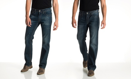 Antique Rivet Men's Relaxed Fit or Straight Leg Jeans. Multiple Styles Available.