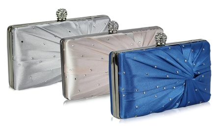 Sparkly Crystal Satin Clutch Purse in Choice of Colour for £12.95 (64% Off)