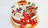 "Choice of Standard or Christmas 8"" Cake for Takeaway from Caffe Concerto, Multiple Locations (Up to 39% Off)"