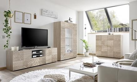 Mobili da soggiorno blossom rovere groupon goods for Mobile da soggiorno moderno