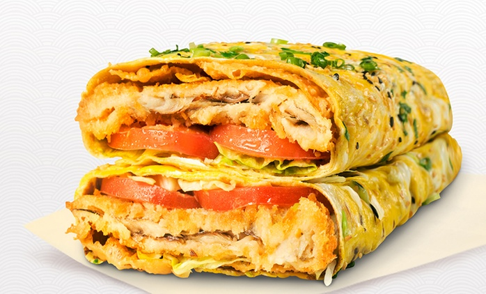 Chinese Fast Food Combo Meal - Small ($8) or Regular ($10) at Huang Taiji Jianbing, CBD (Up to $16 Value)