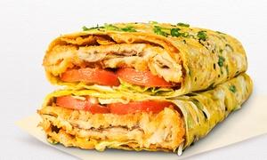 Huang Taiji Jianbing: Chinese Fast Food Combo Meal - Small ($8) or Regular ($10) at Huang Taiji Jianbing, CBD (Up to $16 Value)