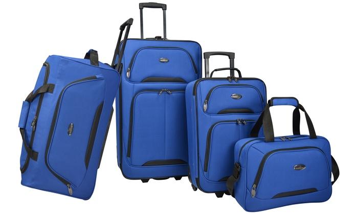 Us Traveler Vineyard Softside Rolling Luggage Set