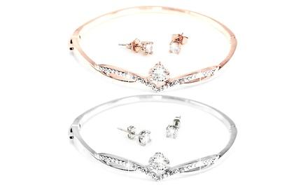 Conjunto Florence de pulsera y pendientes adornado con cristales Swarovski®