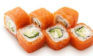 Kapa Sushi: Menú para 2 o 4 con entrante, 40 u 80 piezas de sushi y bebida en local o para recoger desde 19,95 € en Kapa Sushi