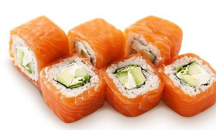 Menú para 2 o 4 con entrante, 40 u 80 piezas de sushi y bebida en local o para llevar desde 19,95 € en Kapa Sushi