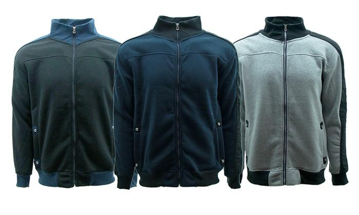 Men's Two Tone Full Zip Fleece Jacket