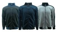 Men's Two Tone Full Zip Fleece Jacket (Multiple Colors)