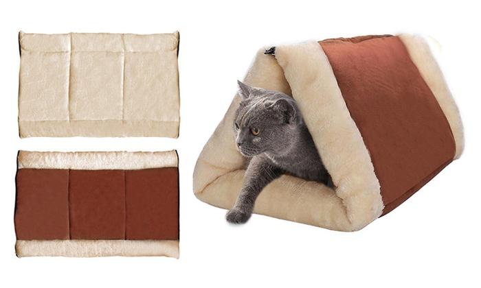 Tot op in kussen voor katten groupon producten