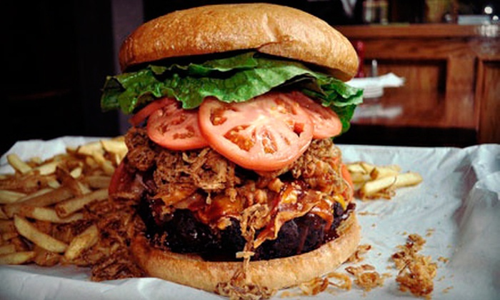 Black Bear Saloon - Multiple Locations: $17 for $35 Worth of American Food and Drinks at Black Bear Saloon