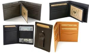 RFID-Blocking Men's Leather Wallet or Money Clip