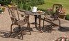 Groupon Goods Global GmbH: Three-Piece Rose Bistro Set in Bronze or Pewter