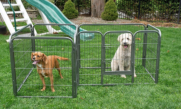 Divided Indoor-Outdoor Dog Pen | Groupon Goods