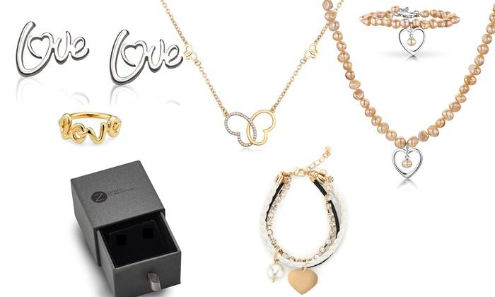 Groupon Goods Global GmbH Bijoux Zenzhu avec perles en argent sterling,  modèle au choix