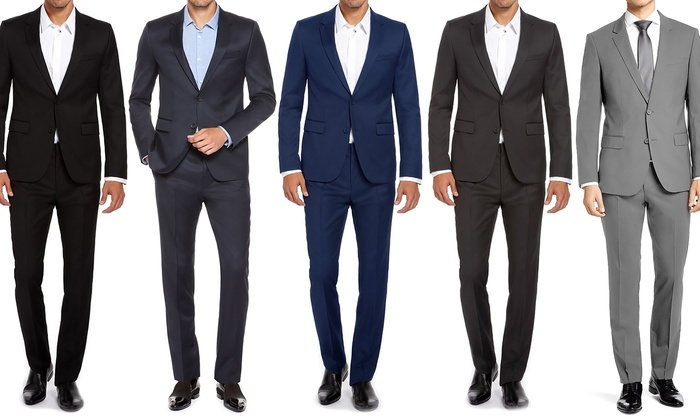 Renoir Men's Slim-Fit Suits (2-Piece) | Groupon