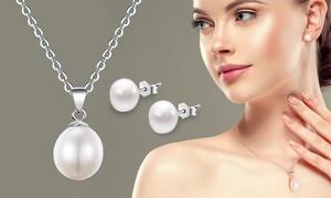Parure en perles et argent