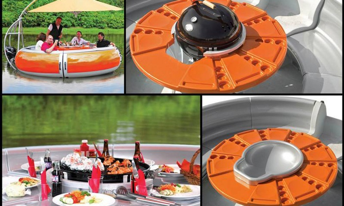 BBQ Donut Rentals - Cape Coral: $185 for a Three-Hour Barbecue Donut-Boat Rental from BBQ Donut Rentals ($375 Value)
