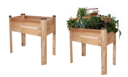 Cedarcraft raised garden beds groupon goods for Gardening 4 less groupon