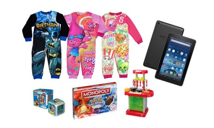 Kids' Mystery Onesie Deal With Chance To Win Amazon Tablet or Toys