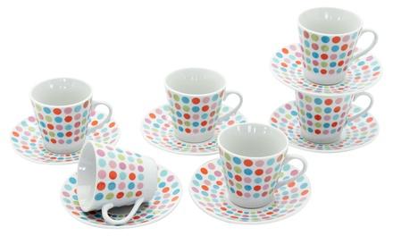 6 tazze, 6 piattini Casa Collection