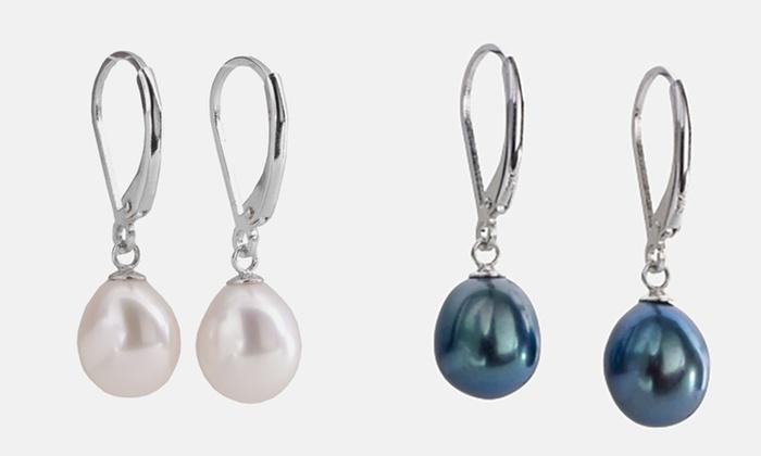 Orecchini in argento con perle