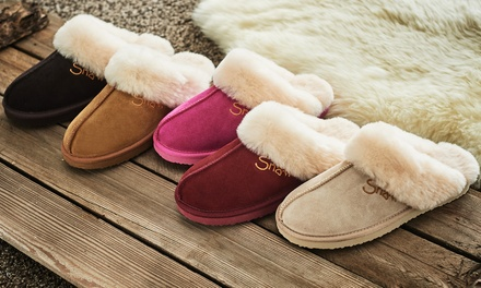 Snow Paw Sheepskin Slippers