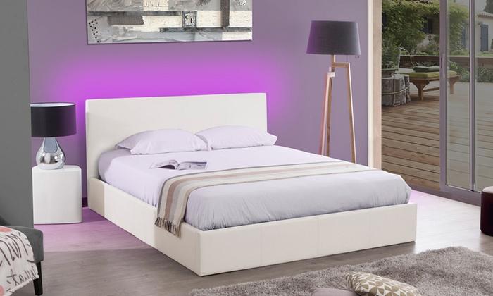lit coffre simili cuir groupon shopping. Black Bedroom Furniture Sets. Home Design Ideas