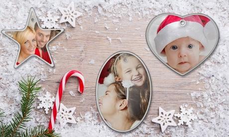 1, 2, 3 o 5 adornos navideños personalizados en Printerpix (ES)